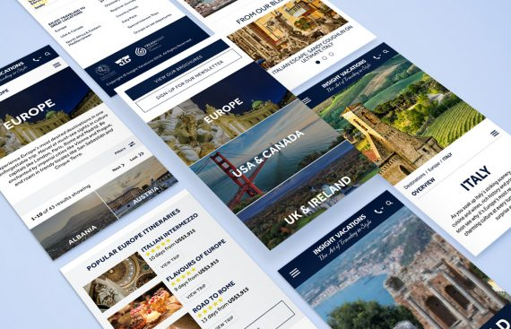Destinations - Insight Vacations website