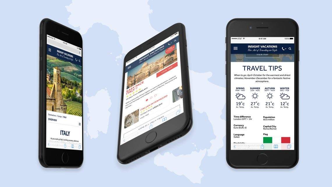 Destinations - Insight Vacations website